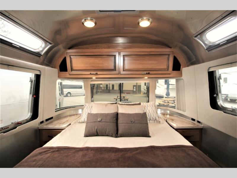 Airstream front bedroom