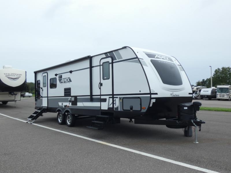 Apex travel trailer dual entry