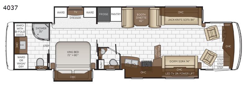 Newmar floorplan