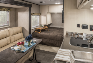 front kitchen travel trailers